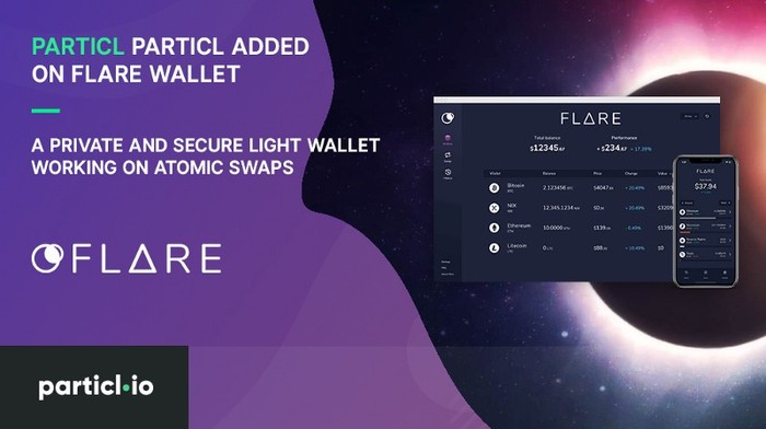 Particl Added on Flare Wallet